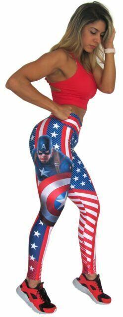 Superhero Leggings Black Panther Fiber Butt Lift Pilates Yoga Crossfit Colombian