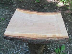 Wild-Cherry-Wood-20x14-15x2-034-Slice-Fresh-Cut-Slab-Stool-Wedding-Display-Sign-15H