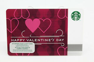 Starbucks Coffee 2013 Gift Card Happy Valentine's Day ... Happy Gift Card Balance