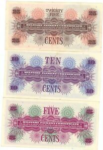 Military-Payment-Certificates-5-10-25-Cent-Notes-Collection-RW157