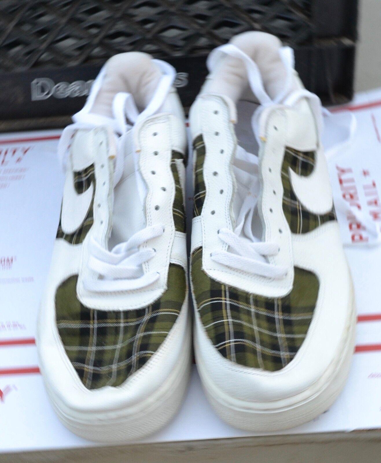 RARE 2002 Nike Men's Air 624040-111 force white/ PLAID  624040-111 Air Size 15 2b98f1