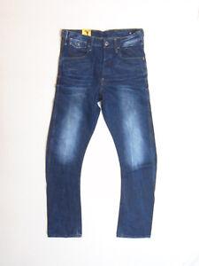 G-Star Raw New Riley Arc Zip 3D Loose Tap W32 L34 RRP £133.99  Dark Denim Jeans
