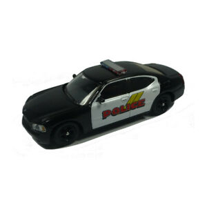 Ricko-38268-Dodge-Charger-034-Police-034-Black-White-Scale-1-87-Model-Car-New