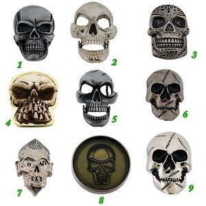 Skeleton-Belt-Buckles-Skulls-Crossbones-Silver-Metal-Fashion-Costume-Halloween