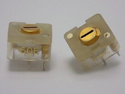 10x Philips 60E --( 6-60pF , 200V DC )-- Teflon Foil Trimmer Variable Capacitor