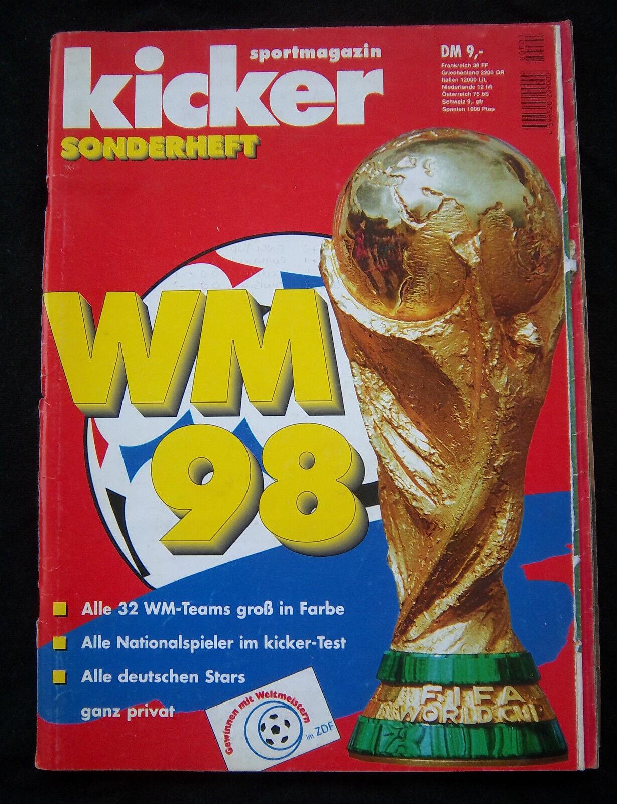 Orig.Komplette PRG   Weltmeisterschaft FRANKREICH 1998 - Sonderotition    SELTEN  | Schönes Aussehen