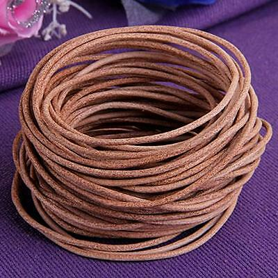 "9M Natural Color Leather Necklace Jewelry Cord String 0.08"" HOT"