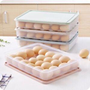 Eier-Eierdose-Eierbox-Behaelter-Frischhaltedose-Vorratsdose-Stossfest-mit-24Gitter