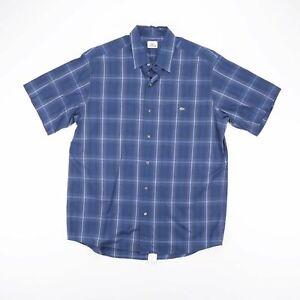 Lacoste bleu classique à manches courtes Chemise décontractée homme L