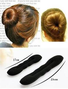 2 eponge chignon magique bandeau cheveux coiffure facile bigoudis 2 tailles ebay. Black Bedroom Furniture Sets. Home Design Ideas