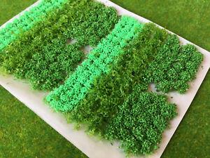 Luz-verde-de-flores-y-arbustos-Mix-Estatica-Hierba-Matas-Modelo-Paisaje-arbol-de-ferrocarril