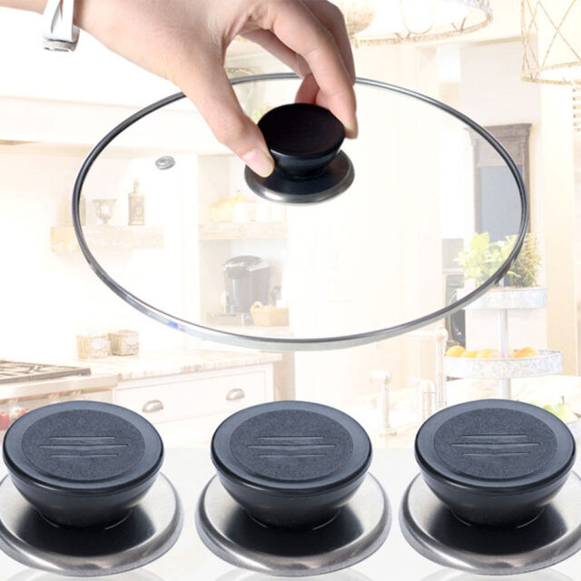 Universal Replacement Kitchen Cookware Pot Pan Lid Cover Grip Knob Handle Set 4p