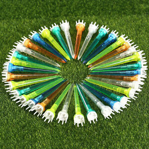 Plastic-Crown-Shape-Claw-Cushion-Top-Golf-Tees-78m-Mixed-Color-50-Pack-Xmas-Gift