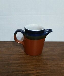 Image is loading Mikasa-Potters-Art-Fire-Song-Creamer-PF003-Blue- & Mikasa Potters Art Fire Song Creamer PF003 Blue Brown Dinnerware | eBay