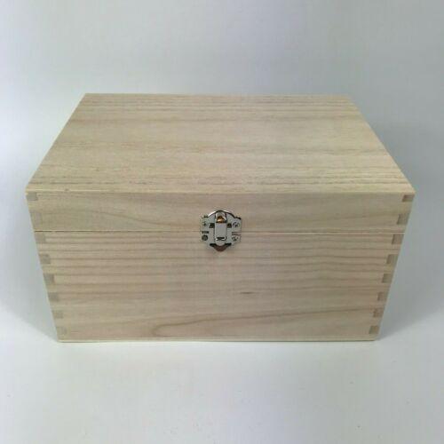 Cajas De Madera Personalizadas Grande Caja llana y Pintado Grabado Recuerdo Baratija