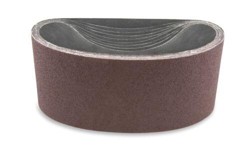 4 X 132 Inch 36 Grit Aluminum Oxide Multipurpose Sanding Belts 3 Pack