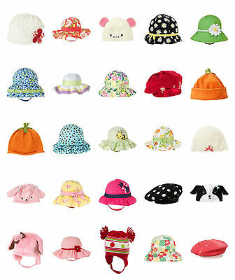 NWT Gymboree Baby Buddies Girl Striped Black White Pink Bow Sun Hat
