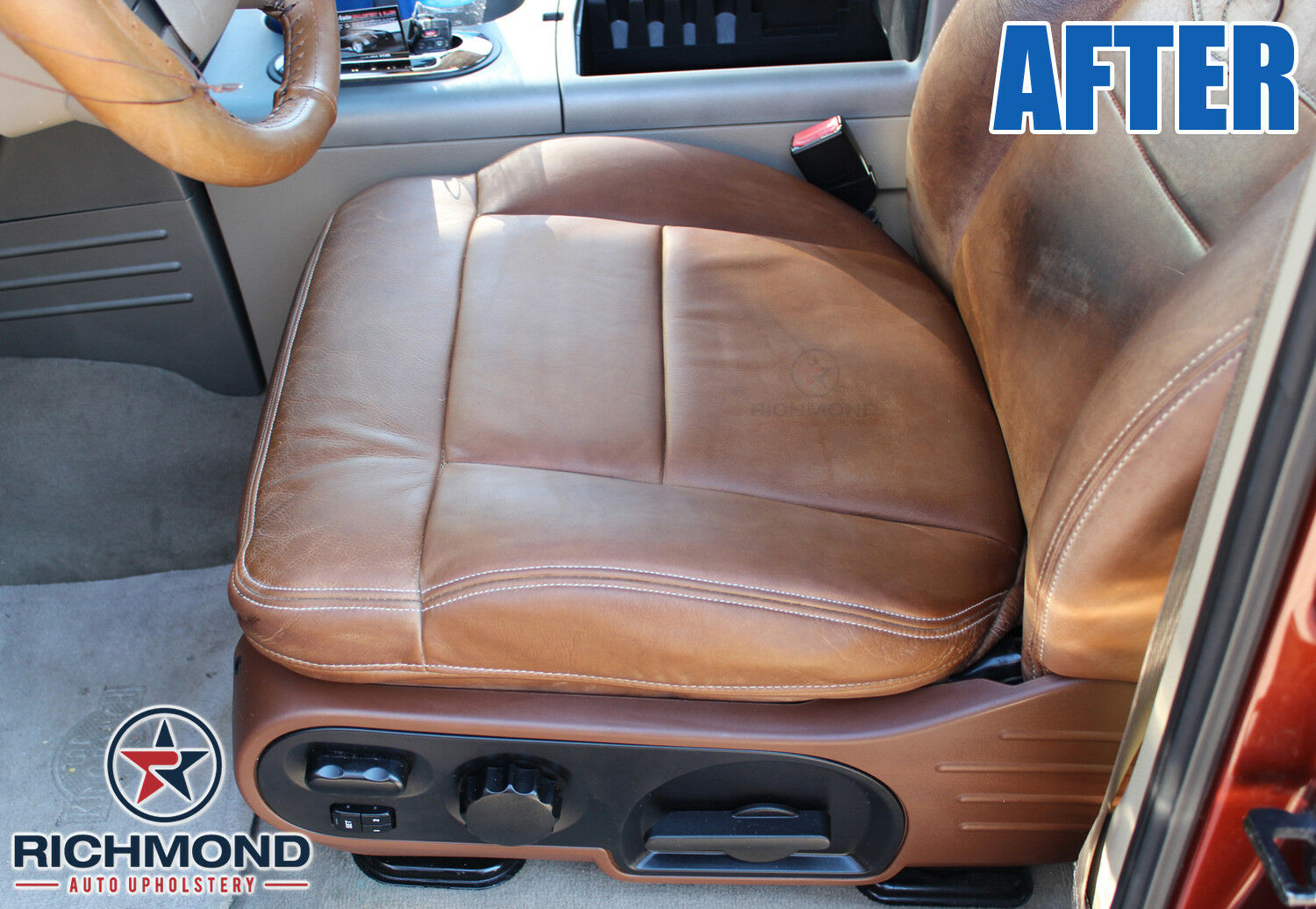 Driver Side Bottom Leather Seat Cover 2008 2009 2010 Ford F250 F350 King Ranch Auto Parts Accessories Car Truck Parts