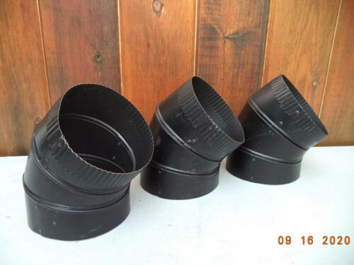 "DuraVent DuraBlack 24-ga Welded Black 6/"" Stove pipe 45 Degree Elbow 6DBK-E45"