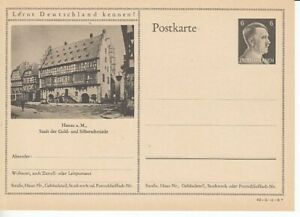 German-Reich-Stationery-P-305-Hanau-Goldsmith