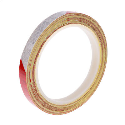 8m Long Strips Wheel Reflective Stickers Rim Tape for Bike Motorcycle Red