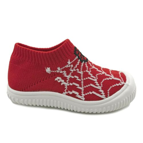 New Baby Boys Sock Shoes Spider Web Knitted Low Top Sneakers Toddler Size 4 to 9