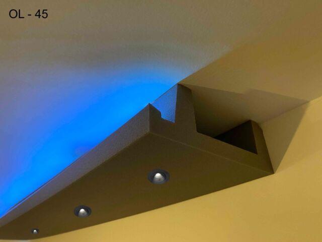 20m LED zwei LED-Streifen HALOGEN Deckenbeleuchtung Hartschaum