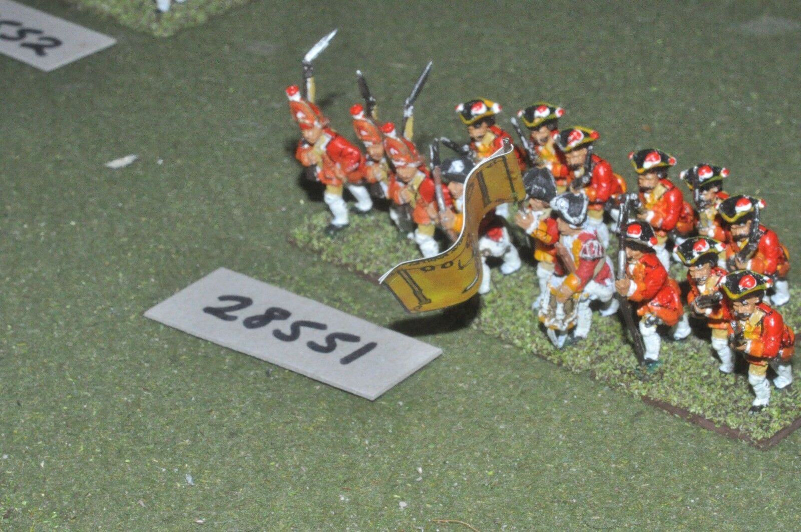 25mm 7YW   german states - regt. 15 figures - inf (28551)