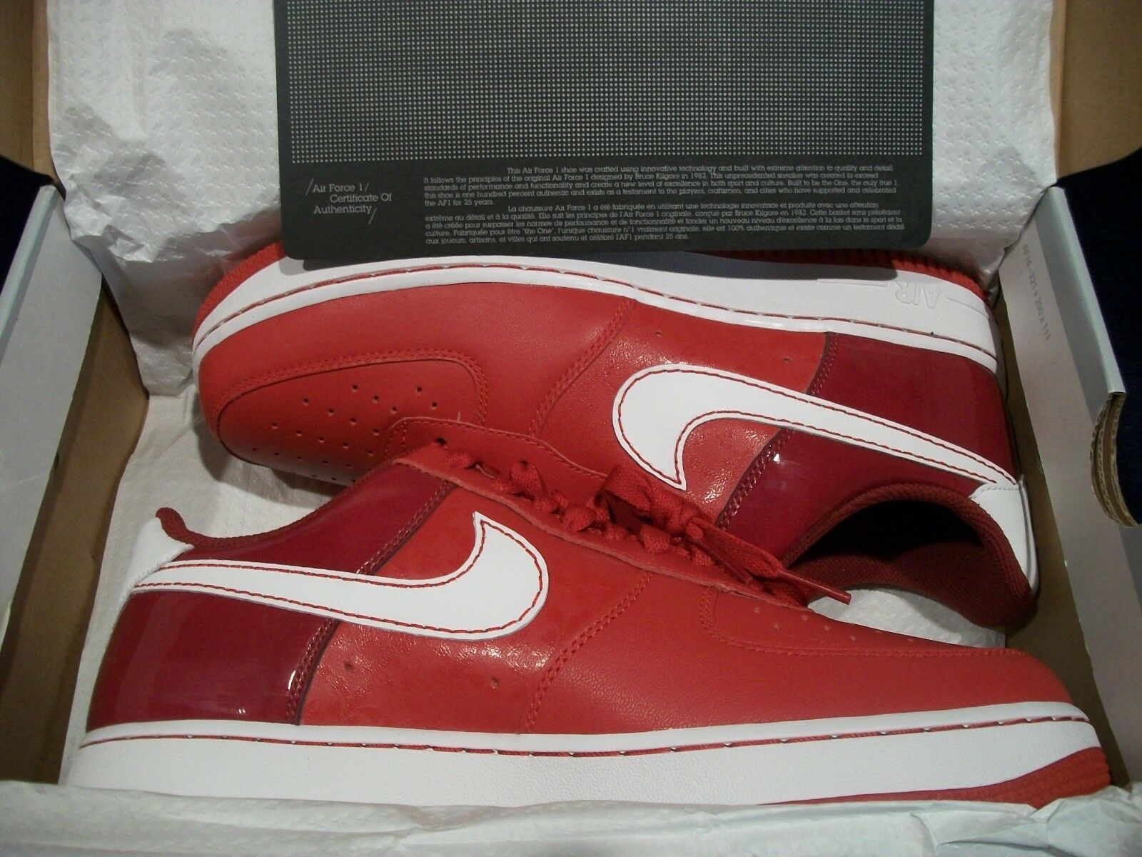 Nike Air Force 1 '07 Women's Varsity Red   White - TM Red 315115-613 Size 10