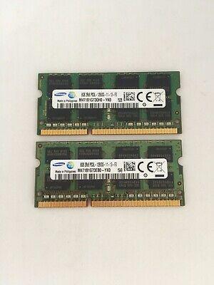 2 x 8GB DDR3L 12800S 11-13-F3 Samsung SODIMM RAM