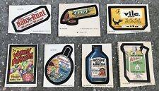 Wacky Packages Lot Series 1, 3, 4, 1979-80, Vile Soap, Baby Runt, Wormy Packages
