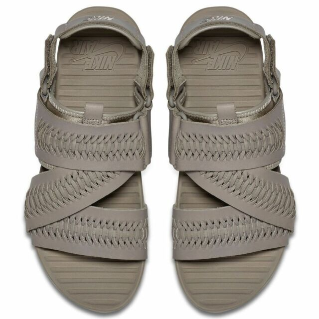 872c1e71ffda Men Nike 850588200 Air Solarsoft Zigzag WVN QS Leather Taupe Sandal Sz 6  for sale online