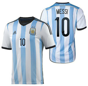 f80bdd46ad7 ADIDAS LIONEL MESSI ARGENTINA HOME JERSEY FIFA WORLD CUP BRAZIL 2014 ...