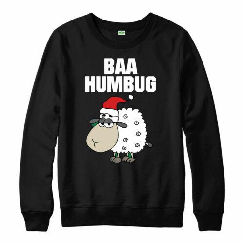 Baa Humbug Christmas Jumper Christmas Festive Gift Present Xmas Top