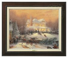 Thomas Kinkade - Victorian Christmas II Canvas Classic (Espresso Frame)