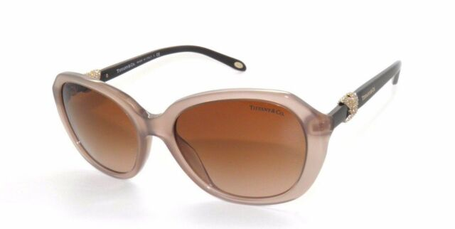 50a7c5a64164 TIFFANY   CO. Sand Honey Brown Sunglasses TF 4108B 4108 Womens w  BLUE CASE