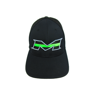 Details about Miken Hat by Pacific 404M All Black Lime Stripe SM MD (6 7 8-  7 3 8) 73954702690