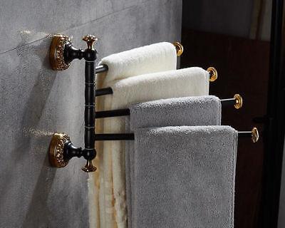 4bathroom 4 Swing Arm Brass Towel Bar Shelf Rack Rail