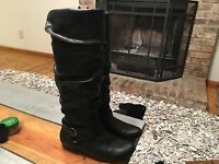 Cliffs by White Mountain Black (Comfort) Riding Boots Womens Size 7 M