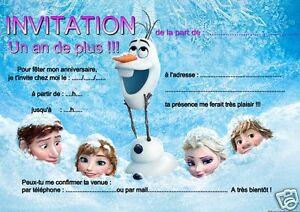 5 ou 12 cartes invitation anniversaire reine des neiges rf 11 ebay 5 ou 12 cartes invitation anniversaire reine des stopboris Gallery