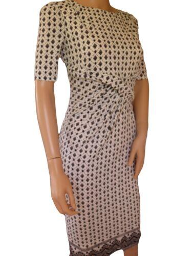 s Print 18 Taglia Black M White 6 Ex Dress manica Diamond Shift corta New 8AqEwUxOt