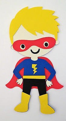 Superman Superboy Super Boy Paper Doll Die Cut Scrapbook Embellishement