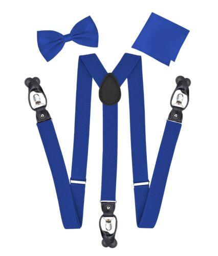 Berlioni Italy Formal Tuxedo Bow Tie Convertible Suspenders Hanky Gift Box Set