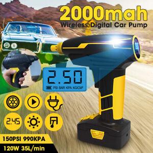 12V-150PSI-LED-Air-Compressor-Tire-Inflator-Digital-LCD-Digital-Pump-Cordless