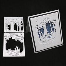 Stanzschablone Karussel Weihnachten Schneemann Haus Elch Hochzeit Karte Album