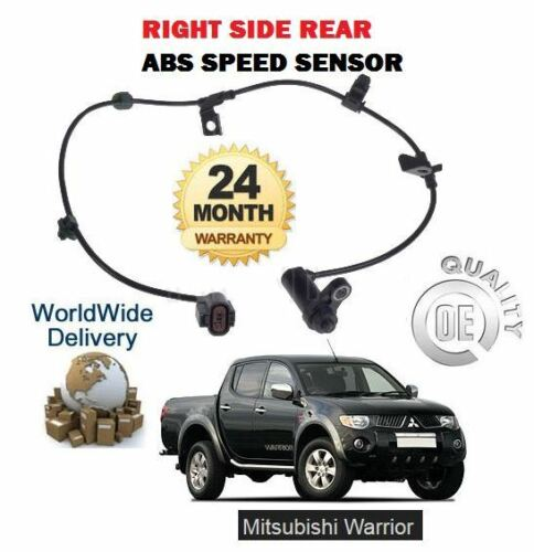 FOR MITSUBISHI L200 WARRIOR 2.5 DID 2006--/> RIGHT SIDE REAR ABS SPEED SENSOR
