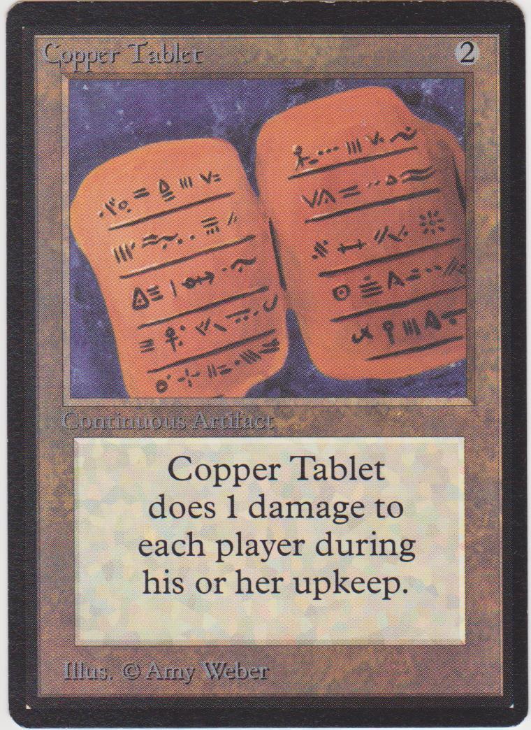 Kupfer - tafel - beta mtg