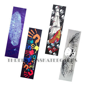 """Graphic Skateboard Grip Tape  9/"""" x 33/"""" Multiple Graphics to Choose"""