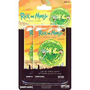 Rick-and-Morty-Season-1-Trading-Cards-Blister-Pack-Set-of-2-Packs-NEW