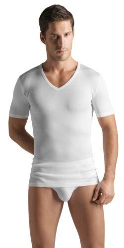 HANRO Mercerized CottonPure V-neck T-Shirt 73665 Size Large